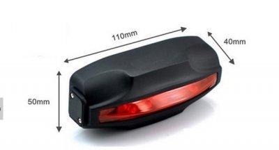 GPS dviračio lempoje